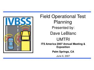 Field Operational Test Planning