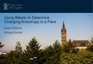 Using Albedo to Determine Changing Anisotropy in a Flare