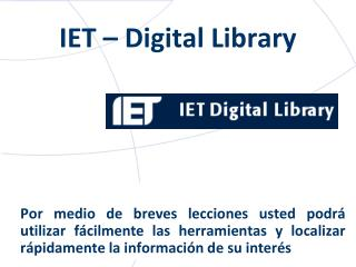IET – Digital Library