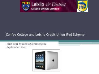 Confey College and Leixlip Credit Union iPad Scheme
