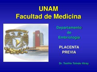 UNAM  Facultad de Medicina