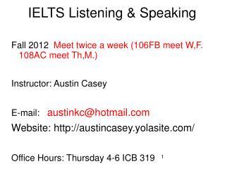 IELTS Listening & Speaking