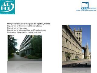 Montpellier University Hospital, Montpellier, France Department of  Interventional Neuroradiology