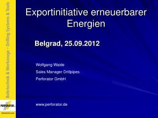 Exportinitiative erneuerbarer Energien