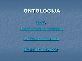 ONTOLOGIJA