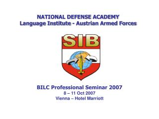 NATIONAL DEFENSE ACADEMY Language Institute - Austrian Armed Forces