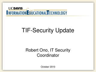 TIF-Security Update
