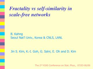 Fractality vs self-similarity in scale-free networks