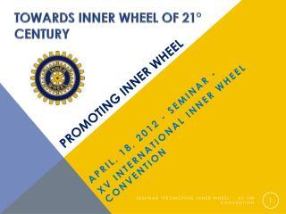 Promoting inner wheel