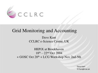 Grid Monitoring and Accounting