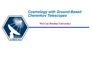 Cosmology with Ground-Based Cherenkov Telescopes