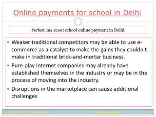 view about Online payment for school in Delhi