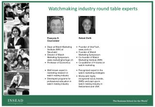 Watchmaking industry round table experts