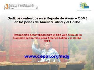 Gráficos contenidos en el Reporte de Avance ODM3 en los países de América Latina y el Caribe