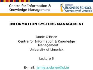 Centre for Information & Knowledge Management
