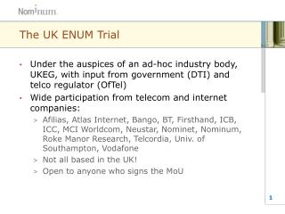 The UK ENUM Trial