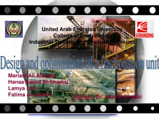 United Arab Emirates University College of Engineering Industrial Training and Graduation Project Unit
