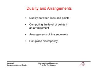 Duality and Arrangements