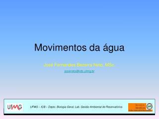 Movimentos da água