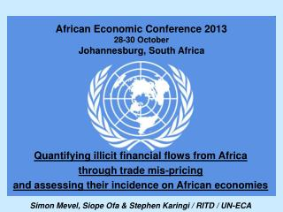 African Economic Conference 2013 28-30 October Johannesburg, South Africa
