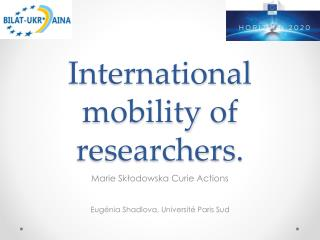 International  mobility  of  researchers .