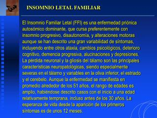INSOMNIO LETAL FAMILIAR