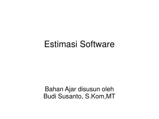 Estimasi Software