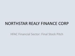 NORTHSTAR REALY FINANCE CORP
