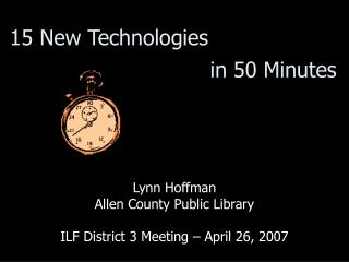 15 New Technologies