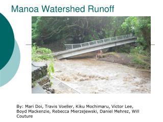 Manoa Watershed Runoff