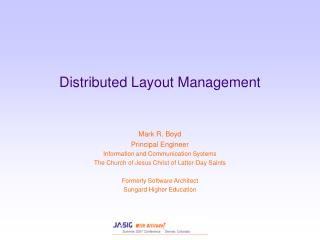 Distributed Layout Management