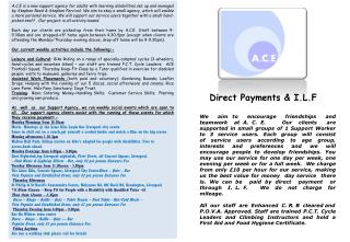 Direct Payments & I.L.F