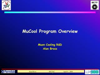 MuCool Program Overview