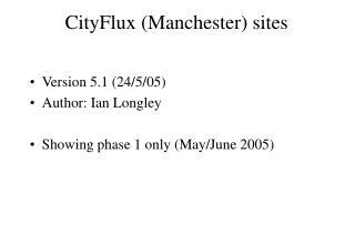 CityFlux (Manchester) sites