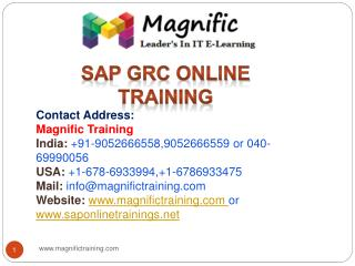 sap grc online training USA,UK and Canada