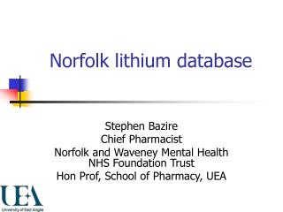 Norfolk lithium database