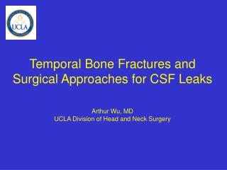 Temporal Bone Fractures and Surgical Approaches for CSF Leaks