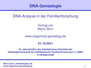 DNA-Genealogie