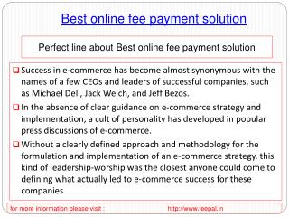 view about Best online fee payment solution