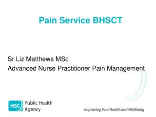 Pain Service BHSCT