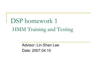 DSP homework 1 HMM Training and Testing