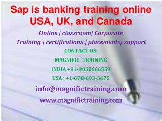 sap banking online training USA,California