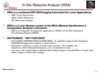 In-Situ Resource Analyzer (ISRA)