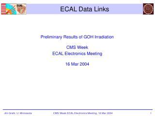 ECAL Data Links