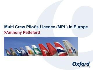 Multi Crew Pilot's Licence (MPL) in Europe