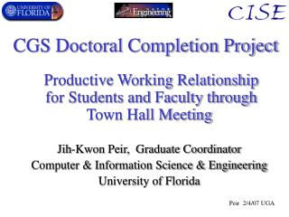 CGS Doctoral Completion Project