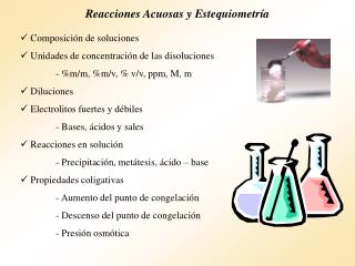 Reacciones Acuosas y Estequiometría