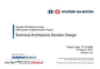 Hyundai-KIA Motors Europe  CRM System Implémentation Project
