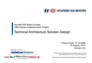 Hyundai-KIA Motors Europe  CRM System Impl�mentation Project