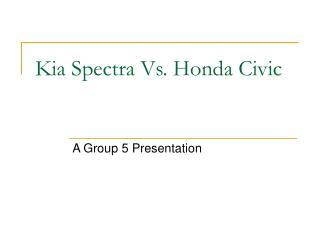 Kia Spectra Vs. Honda Civic